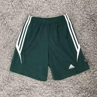 Adidas Soccer Sports Shorts (Green, Mens Size S - 30)