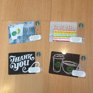 Starbucks Card birthday thank you from abroad