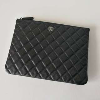 Authentic Chanel O Case Black