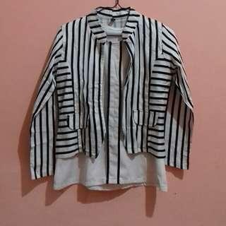 1 Set (Baju+Cardigan)