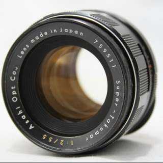 Asahi Pentax Super Takumar 55mm f2 Lens M42 Mount