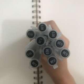 0.38 Muji Gel Ink Pen Black