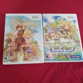 Wii Game Rune Factory Frontier and Tides of Destiny