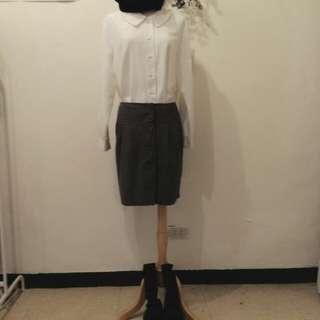 Beartwo 排扣窄裙