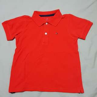 Kid's 4T Tommy Hilfiger Orange Polo T, Kid's Clothes