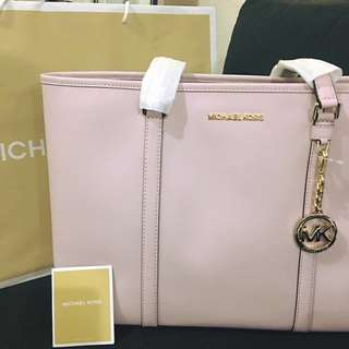 Michael Kors New Sady Large Tz Lthr Msrp Blossom Saffiano Leather Tote