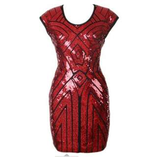 Bodycon dress (red sequin)