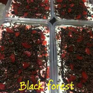 Black forest, coffee crumble, mango float