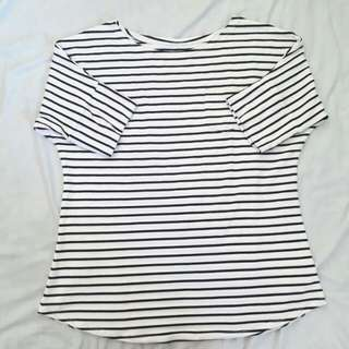 Stripes with pocket blouse