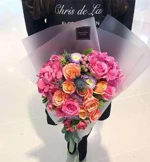 心形花束 鮮花束
