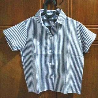 Strip Shirt (size S- M kcil)