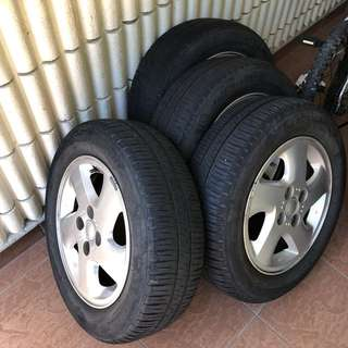 Myvi Rims with tyres
