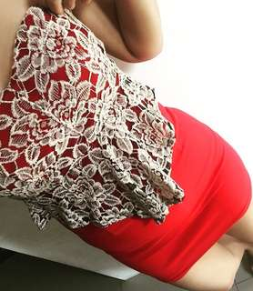 Dress red boutique