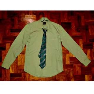 Dansen Slim-fit Olive Green Long Sleeves (xs)