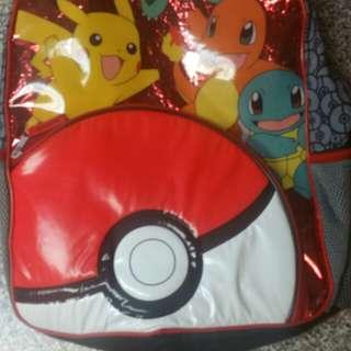 Pokemon Fab NY Backpack Bookbag Pikachu Pokeball Squirtle School