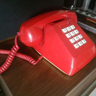 80s red phone for decoration