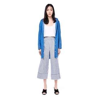 The Editor's Market Nikola Wide-leg Stripe Pants