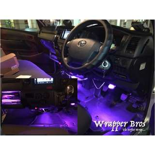Interior lighting , leg room light , glove compartment