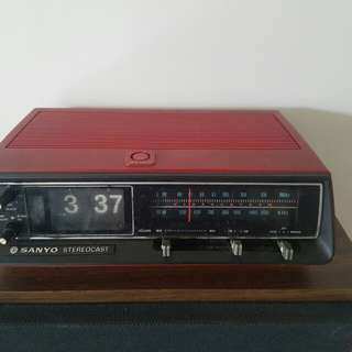 80s sanyo red radio for decoration