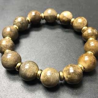 Old rare golden mineral stone bracelet