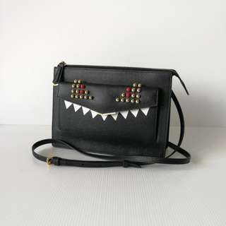 Authentic Fendi Monster Crossbody Bag