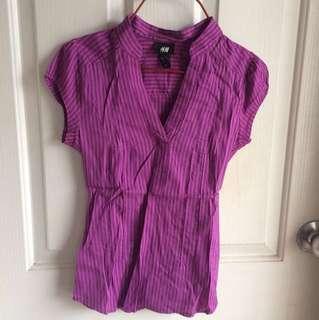 H&M purple work blouse