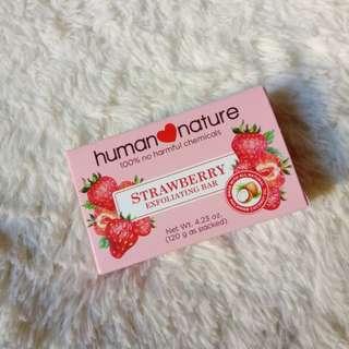 Human Nature Strawberry Exfoliating Bar