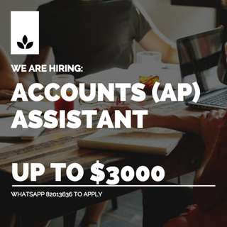 UP TO $3000 // ACCOUNTS PAYABLE (AP) ASSISTANT // 3 MONTHS CONTRACT // URGENT