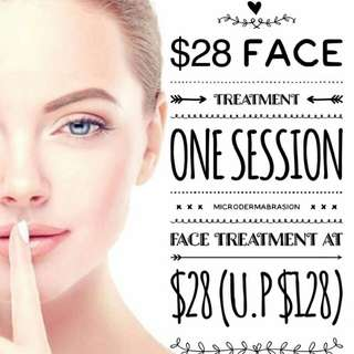 Face Treatment Microdermabrasion