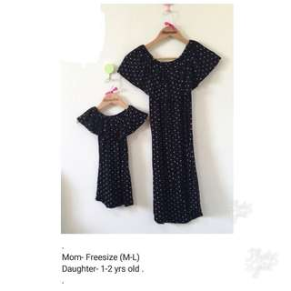 Mommy and baby twinning dress