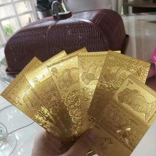Duit emas 18k Gold plated