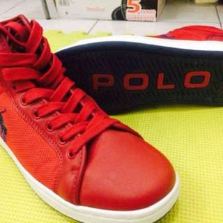 Ralph Lauren Nyc Walker Leather High Top Shoes
