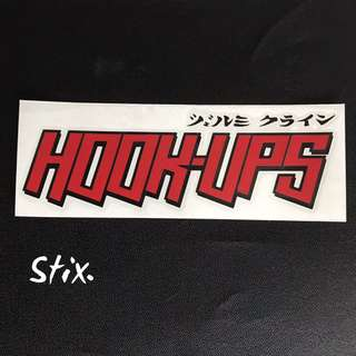 Hook-ups Skateboard Vinyl Cut Sticker