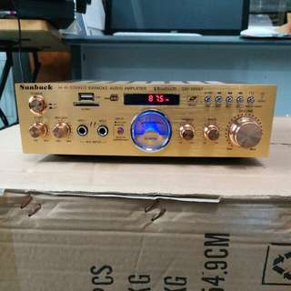 "Brand New Good Quality golden small karaoke amplifier with/without 6.5"" side gold script speaker"