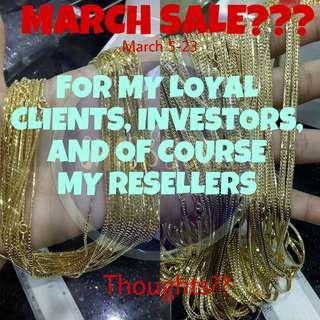 MARCH SALE ANYONE? 18K 21K 24K 10K GOLD DIAMONDS EARRINGS RINGS NECKLACE