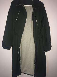 Zara long green jacket