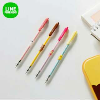 Authentic Line Friends Gel Pens
