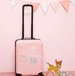韓國代購 disney 迪士尼系列小鹿斑比Bambi白尾鹿20寸旅行喼