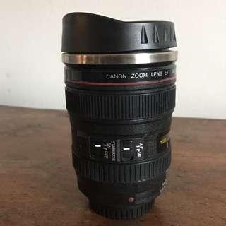 Reusable cup - camera lens