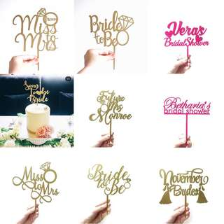 Personalized Bridal Shower/Hens Party Cake Topper