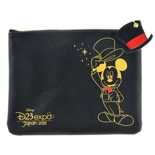 Japan Disneystore Disney Store Mickey Mouse Top Hat D23 Expo Accessory Pouch