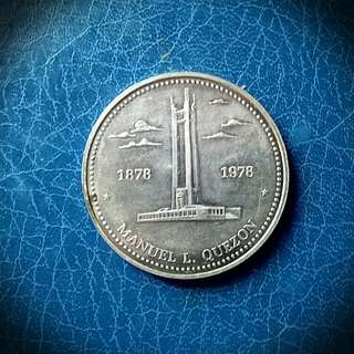 100th Anniversary birth of Quezon,Silver,Collectible Coin