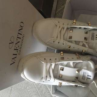 valentino鞋 白鞋 波鞋
