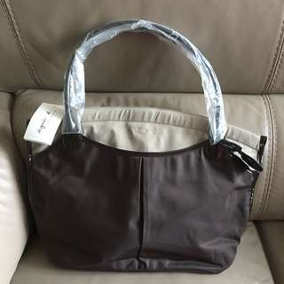 Agnes B Brown Nylon Handbag new&real