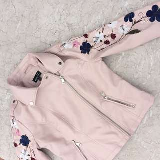 Rue 21 Pink leather jacket