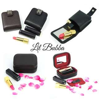 [Ready Stock] PU/Cow Leather Lipstick Case/ Jewellery Case
