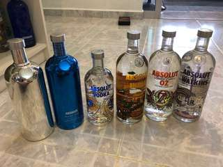 Absolut bottles for sale