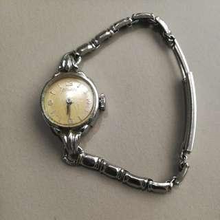 1950s Nivada Ladies Stainless Steel Vintage Swiss Watch