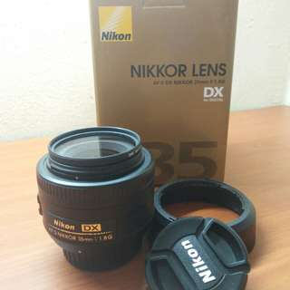 Nikon AF-S DX 35MM f/1.8G Lens(99%new)