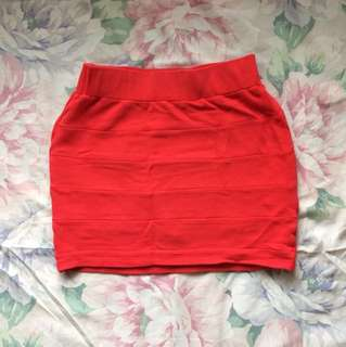 Oxygen Bandage Skirt - Red